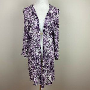 Christopher Banks XL Cardigan Knit Open Front 3/4